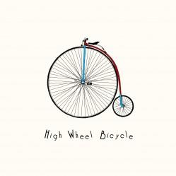 Vintage retro high wheel bicycle