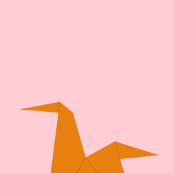 Origami horse poster