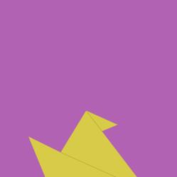Origami bird poster