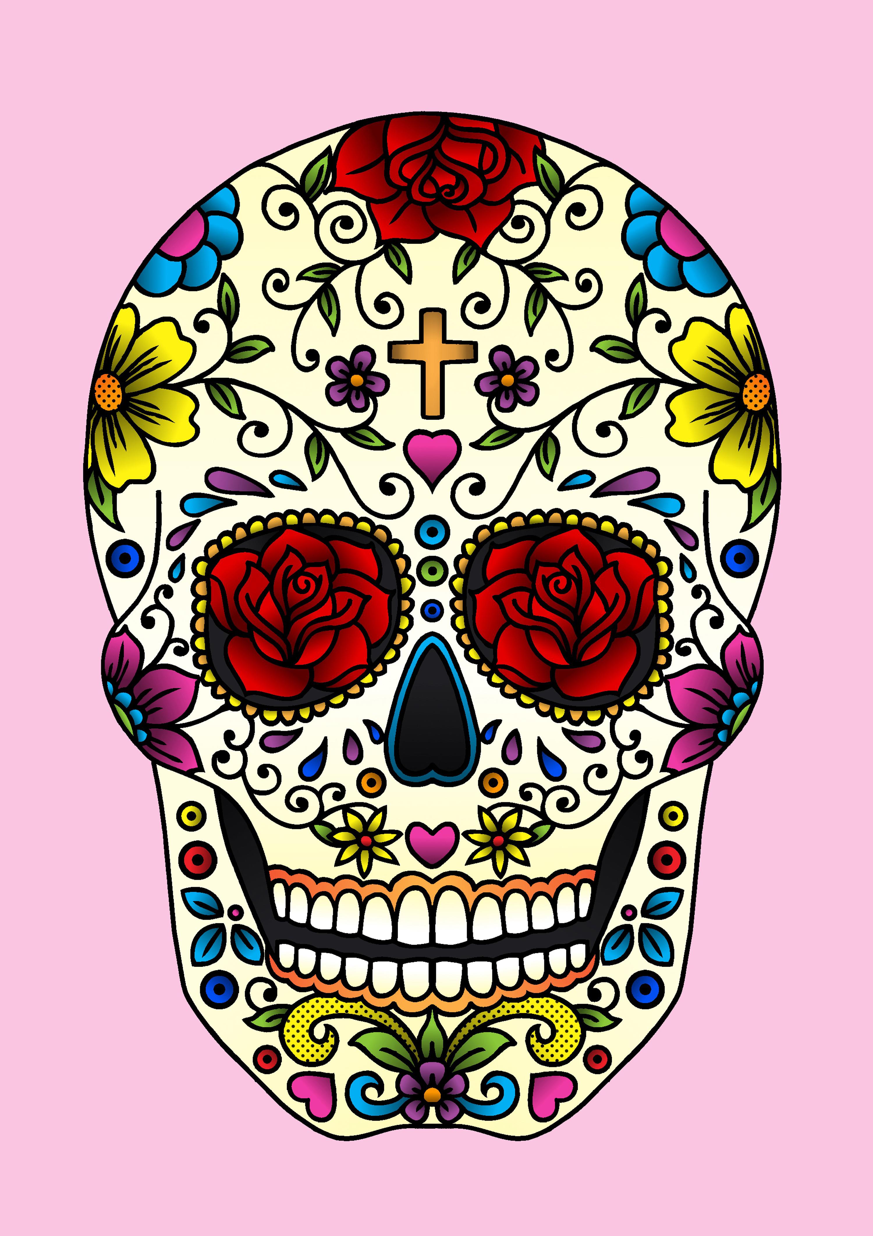 sugar skull » jadeboylan on JuicyCanvas.com
