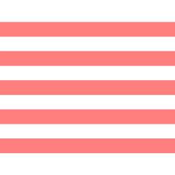 Coral White Stripes