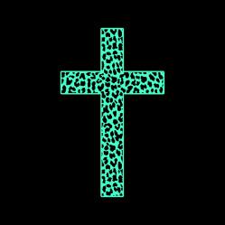 Mint Leopard Cross