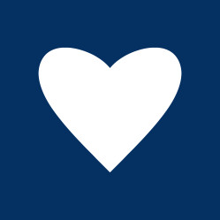 Navy Blue Heart