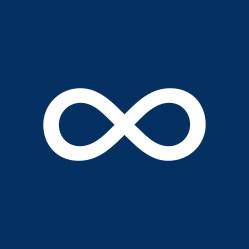 Navy Blue Infinity