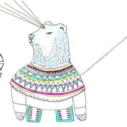 oso polar greenland pequeño