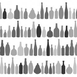 bottlesblackandwhiteonwhiteprint