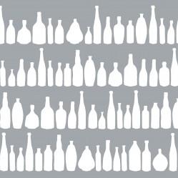 bottleswhiteongreyprint