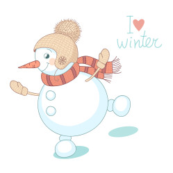 Funny dancing snowman.