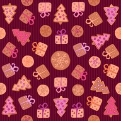 Cookies seamless pattern