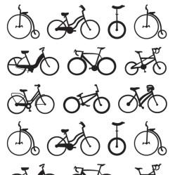 illustrations bikes silhouette contemporary graphics