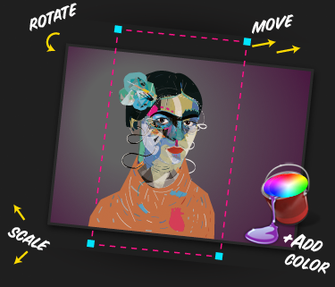 Add color scale rotate move
