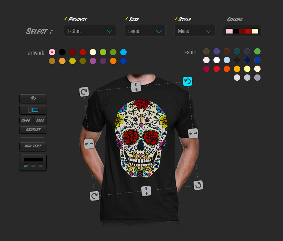 JuicyCanvas t-shirt-customizer
